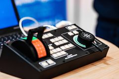 Elektronisch controlebord stock fotografie