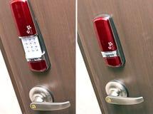 Elektronisch deurslot stock afbeeldingen