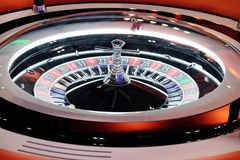 Elektronisch het wielclose-up van de casinoroulette Stock Afbeelding