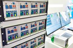 Elektronisch materiaal om klepverrichting in olieindus te simuleren Royalty-vrije Stock Afbeeldingen