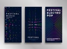 Elektronisch Muziekfestival royalty-vrije illustratie