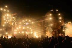 Elektronisch Muziekfestival Royalty-vrije Stock Foto's