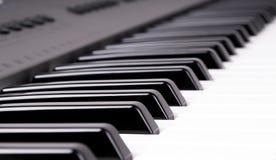 Elektronisch orgel toetsenbord Stock Fotografie