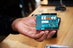 Elektronisch prototype voor nieuwe technologieën, Royalty-vrije Stock Foto's