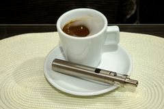 Elektronisch sigaretmod., geavanceerde e-sigaret royalty-vrije stock foto's