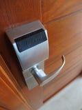 Elektronisch slot op deur royalty-vrije stock foto's