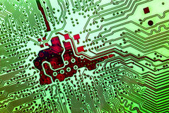 Elektronisch technologieënconcept Stock Afbeelding