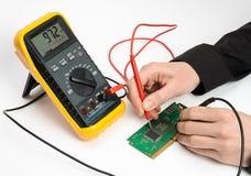 Elektronisch testen Stock Foto's