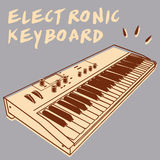 Elektronisch toetsenbord Royalty-vrije Stock Afbeelding