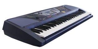 Elektronisch toetsenbord op witte achtergrond stock afbeeldingen