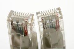 Elektronische aansluting kabel ethernet rj45 royalty-vrije stock foto's