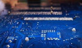 Elektronische achtergrond Stock Afbeelding