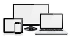Elektronische apparaten stock illustratie