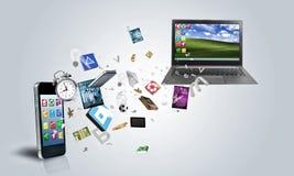 Elektronische apparaten Stock Afbeelding