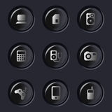 Elektronische apparatenpictogrammen Stock Fotografie