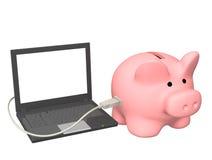 Elektronische bankrekening Stock Foto's