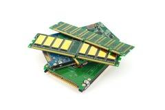 Elektronische Bauelemente für Computer Stockfotografie
