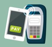 Elektronische betaling en technologie Royalty-vrije Stock Foto's