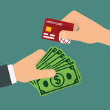Elektronische betaling en technologie Stock Fotografie