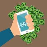 Elektronische betaling en technologie Stock Afbeelding