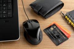 Elektronische Betalingen van Desktop Royalty-vrije Stock Afbeelding