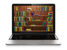 Elektronische Bibliothek stock abbildung
