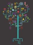 Elektronische boom stock illustratie