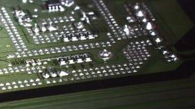 Elektronische Brett Zusammenfassungs-Leiterplatte stock footage