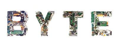 Elektronische byte stock afbeelding