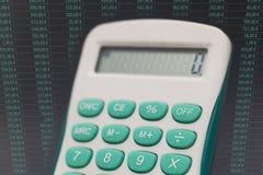 Elektronische calculator royalty-vrije stock afbeelding