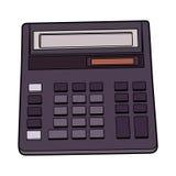 Elektronische calculatorillustratie Royalty-vrije Stock Afbeeldingen