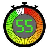 elektronische chronometer met een gradiëntwijzerplaat die met rood beginnen 55 seconden vector illustratie