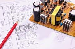 Elektronische componenten Stock Foto's