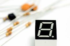 Elektronische componenten. Stock Fotografie