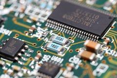 Elektronische Componenten Stock Afbeelding