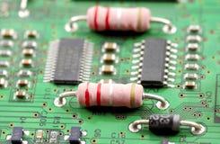 Elektronische componenten en apparaten Stock Foto's