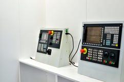 Elektronische computercontrolebord van een industri?le CNC werktuigmachine voor metaalbewerking royalty-vrije stock foto's