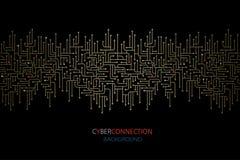 Elektronische de kringsachtergrond van de Cyberverbinding Spu Het ontwerp van kringslijnen royalty-vrije illustratie