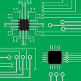 Elektronische de raads vlakke moderne achtergrond van de systeemcomputer Stock Afbeeldingen