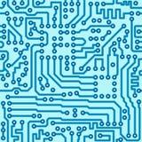 Elektronische digitale kringsraad - naadloze vector Stock Afbeeldingen