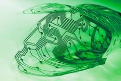 Elektronische flex kringsraad Plastic membraan van computertoetsenbord binnen royalty-vrije stock fotografie