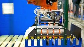 Elektronische geautomatiseerde productie stock video