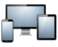 Elektronische Geräte eingestellt lizenzfreie abbildung