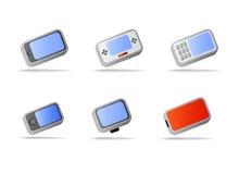 Elektronische Geräte und Telefonikonen Lizenzfreie Stockbilder