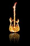 Feuer-E-Gitarre Lizenzfreies Stockbild