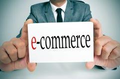 Elektronische handel Stock Foto's