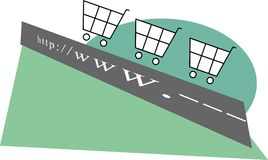 Elektronische handel Stock Fotografie