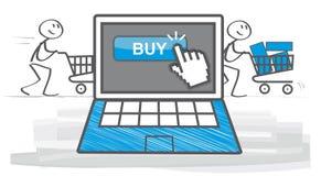 Elektronische handel stock illustratie