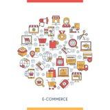 Elektronische handel concepte royalty-vrije illustratie