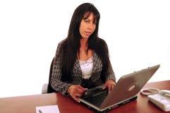 Elektronische handel de bedrijfs van de Vrouw royalty-vrije stock afbeelding